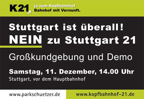 """Motto: """"Stuttgart ist überall! - Für eine Demokratie der Bürger"""""""