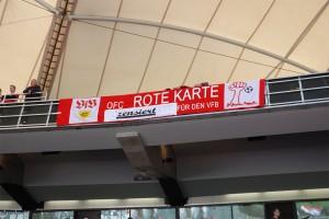 Zensiertes Banner im VfB-Stadion