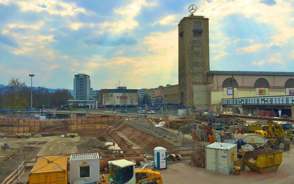 Der geplante Bahnhof in Stuttgart wird zwölf Meter tief unter der Erde auf einem riesigen Trog liegen ©weiberg