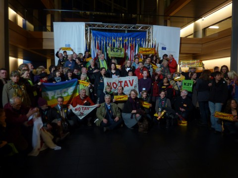 Treffen zwischen TAV-Gegnern und S21-Gegnern in Straßburg