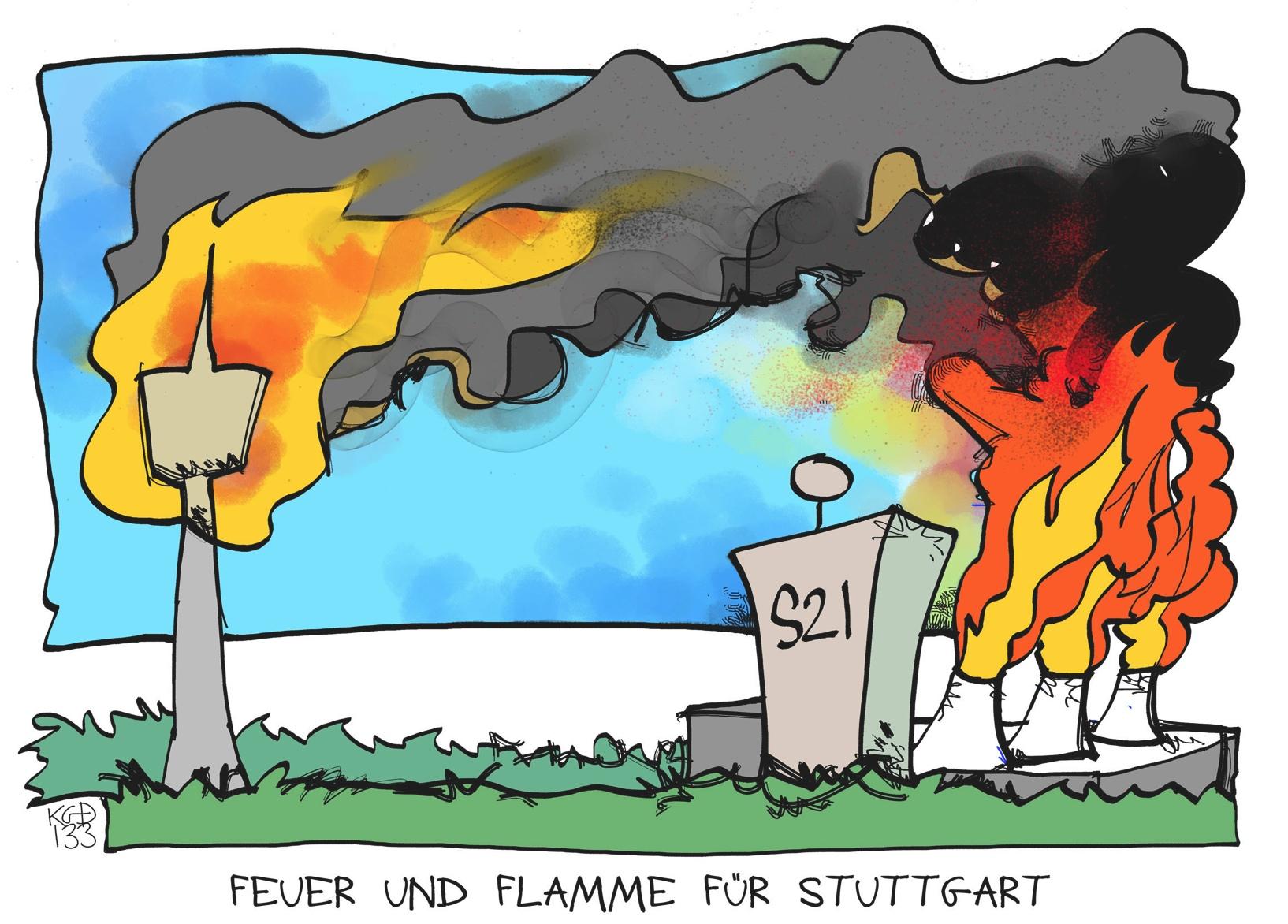Feuer und Flamme für Stuttgart