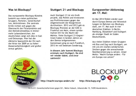 Flyer Text S21 Blockupy 2014