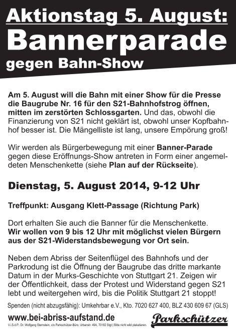 Flyer_A5_Bannerparade_an_Baugrube_2014-08-05_Vorderseite_470