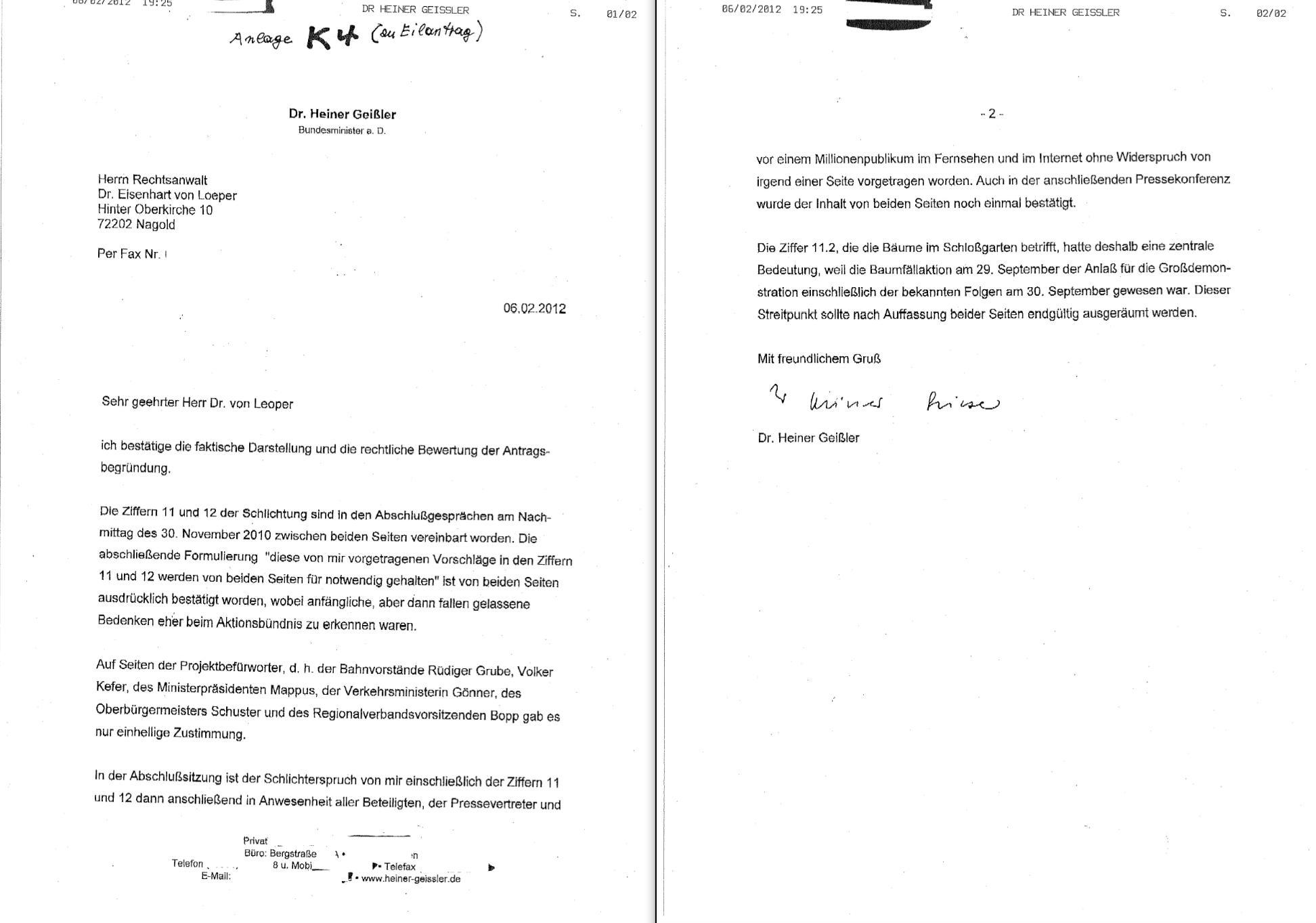 Heiner Geißler Unterstützt Eilantrag Gegen Landesregierung Bei