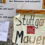 Hilfeschrei an der Stuttgarter Mauer