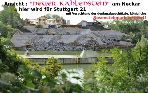 Blick von Cannstatt zum Rosensteinpark