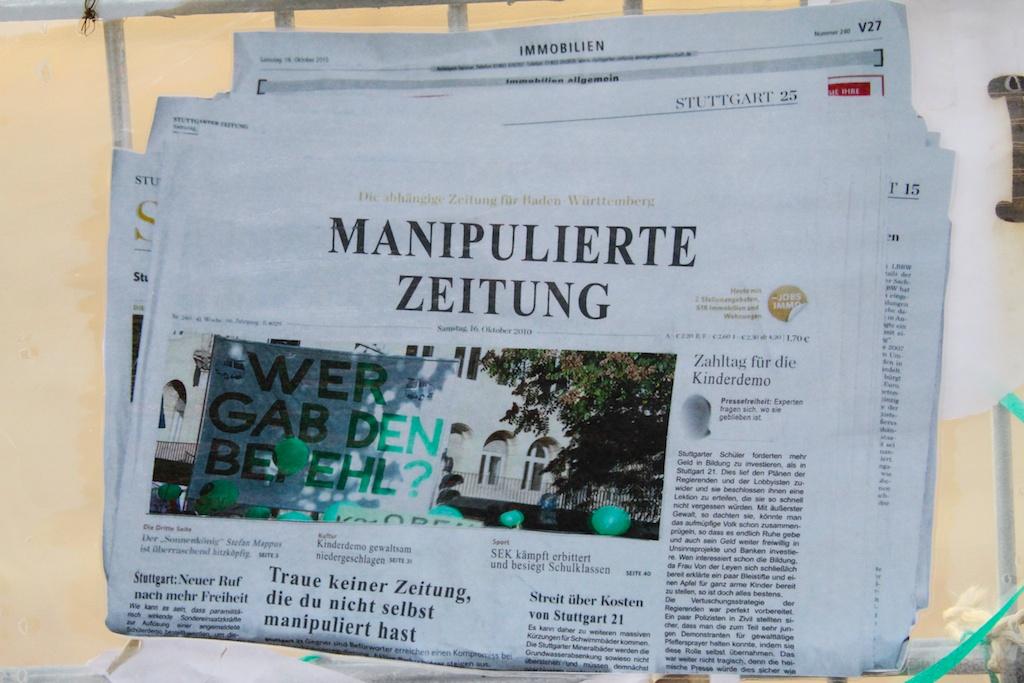 S21 Traue keiner Zeitung ©weiberg