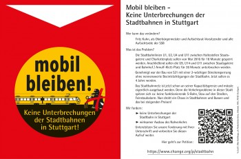 Stadtbahn-Petition