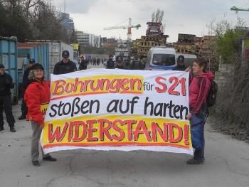 Zur Erinnerung Demo bei der Tunneltaufe 21.3.2014