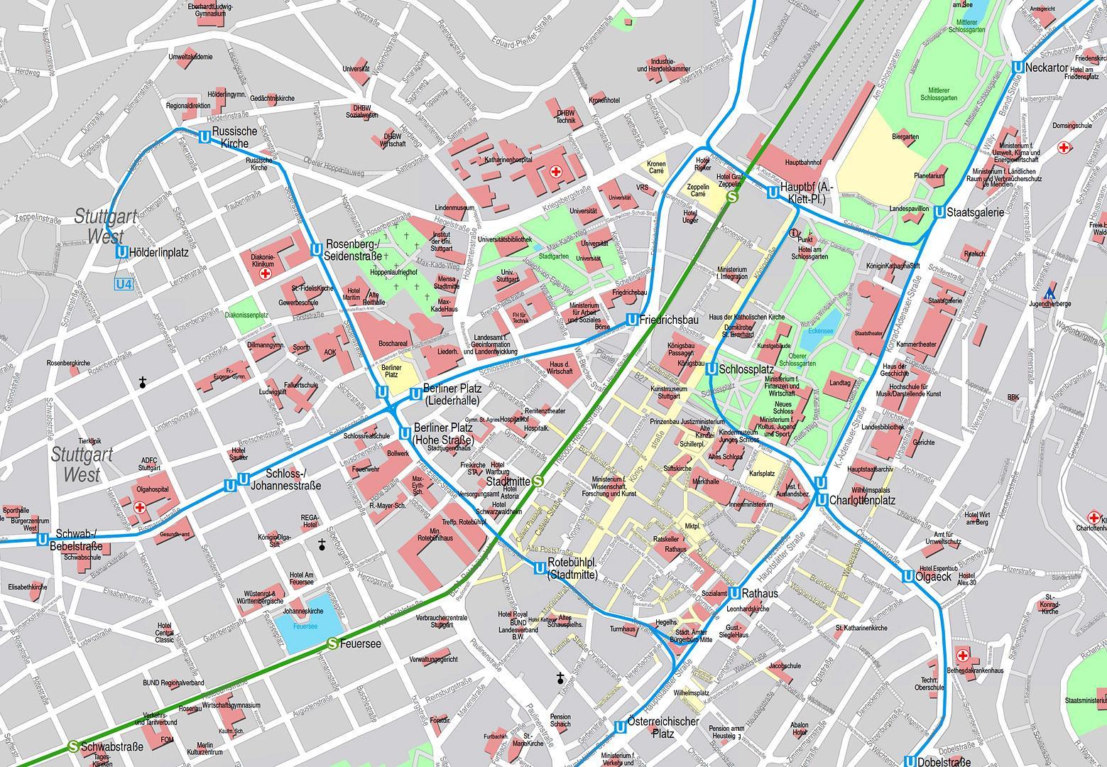 Haus E17 Metzingen Germany 2012: Karte Innenstadt Stgt